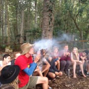 Junior Eye Camp 2014_Blowing fire